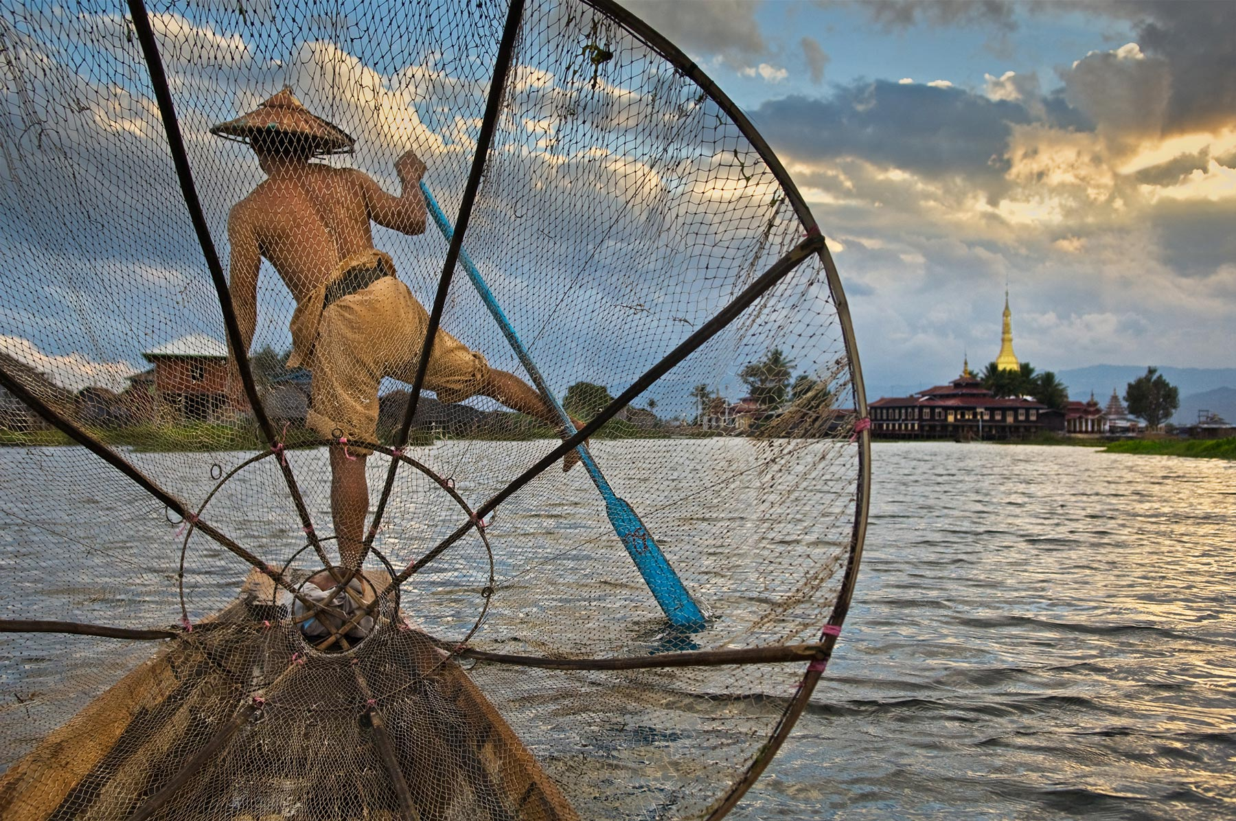 Fisherman on Inle Lake by Steve McCurry