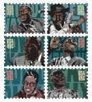 BLUES LEGENDS STAMP SET 2015 Digital print Clover Award Purchase Art Student Honors Exhibition 2015 S.486.15.PR