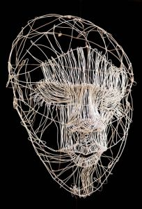 KEEP AN OPEN MIND 2015 Wire sculpture Clover Award Purchase Art Student Honors Exhibition 2015 S.488.15.SC