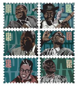 decorative image of 2015-MDaw_Blues-Legends-Stampsprint , BLUES LEGENDS STAMP SET 2017-10-30 10:50:20