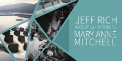 decorative image of 42186_MaryAnn_JeffRichExhibitionPostcard-e1535471756892 , Mary Anne Mitchell's 'Meet Me In My Dreams' and Jeff Rich's 'Watershed: The Tennessee River' 2018-08-28 10:55:29
